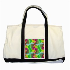Seamless Pattern Twirl Spiral Two Tone Tote Bag