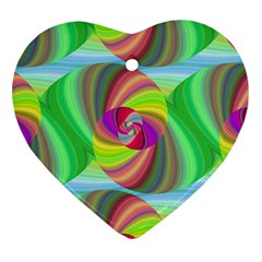 Seamless Pattern Twirl Spiral Heart Ornament (two Sides)