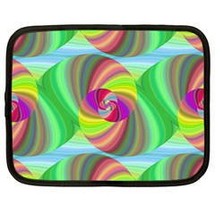 Seamless Pattern Twirl Spiral Netbook Case (xl)