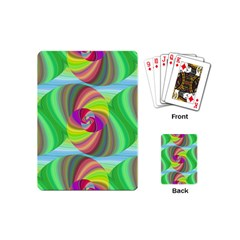 Seamless Pattern Twirl Spiral Playing Cards (mini)  by Nexatart