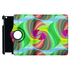 Seamless Pattern Twirl Spiral Apple Ipad 2 Flip 360 Case by Nexatart