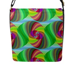 Seamless Pattern Twirl Spiral Flap Messenger Bag (l)