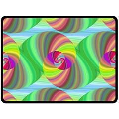 Seamless Pattern Twirl Spiral Double Sided Fleece Blanket (large)  by Nexatart
