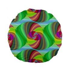 Seamless Pattern Twirl Spiral Standard 15  Premium Flano Round Cushions
