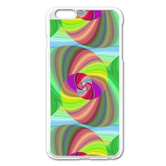 Seamless Pattern Twirl Spiral Apple Iphone 6 Plus/6s Plus Enamel White Case by Nexatart