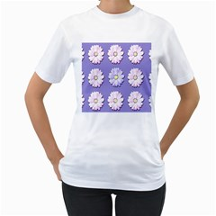 Daisy Flowers Wild Flowers Bloom Women s T Shirt (white) (two Sided)