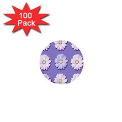 Daisy Flowers Wild Flowers Bloom 1  Mini Buttons (100 Pack)