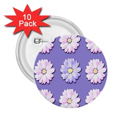 Daisy Flowers Wild Flowers Bloom 2 25  Buttons (10 Pack)