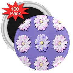 Daisy Flowers Wild Flowers Bloom 3  Magnets (100 Pack)