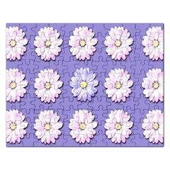 Daisy Flowers Wild Flowers Bloom Rectangular Jigsaw Puzzl by Nexatart