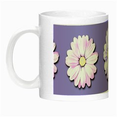 Daisy Flowers Wild Flowers Bloom Night Luminous Mugs