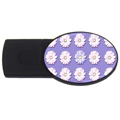 Daisy Flowers Wild Flowers Bloom Usb Flash Drive Oval (4 Gb)