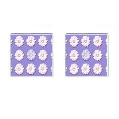 Daisy Flowers Wild Flowers Bloom Cufflinks (square) by Nexatart