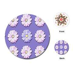 Daisy Flowers Wild Flowers Bloom Playing Cards (round)