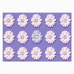 Daisy Flowers Wild Flowers Bloom Large Glasses Cloth