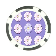 Daisy Flowers Wild Flowers Bloom Poker Chip Card Guard (10 Pack)