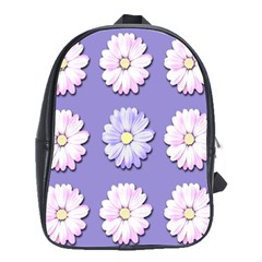 Daisy Flowers Wild Flowers Bloom School Bag (large)