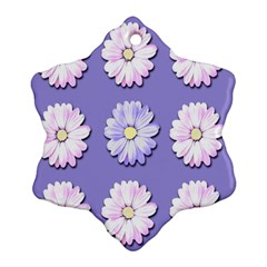 Daisy Flowers Wild Flowers Bloom Snowflake Ornament (two Sides)