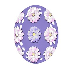 Daisy Flowers Wild Flowers Bloom Oval Filigree Ornament (two Sides) by Nexatart