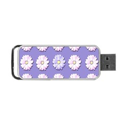 Daisy Flowers Wild Flowers Bloom Portable Usb Flash (two Sides)