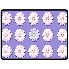 Daisy Flowers Wild Flowers Bloom Double Sided Fleece Blanket (large)  by Nexatart