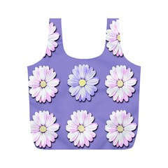 Daisy Flowers Wild Flowers Bloom Full Print Recycle Bags (m)  by Nexatart