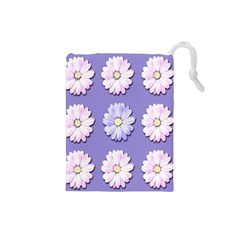 Daisy Flowers Wild Flowers Bloom Drawstring Pouches (small)