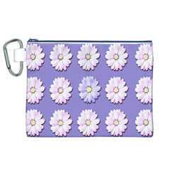 Daisy Flowers Wild Flowers Bloom Canvas Cosmetic Bag (xl) by Nexatart