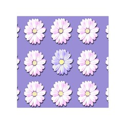 Daisy Flowers Wild Flowers Bloom Small Satin Scarf (square)