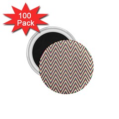 Chevron Retro Pattern Vintage 1 75  Magnets (100 Pack)