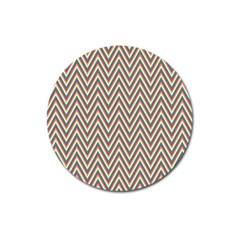 Chevron Retro Pattern Vintage Magnet 3  (round) by Nexatart