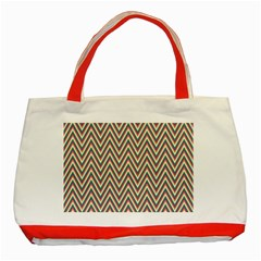 Chevron Retro Pattern Vintage Classic Tote Bag (red)