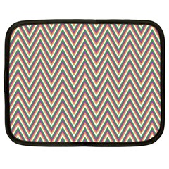 Chevron Retro Pattern Vintage Netbook Case (xxl)