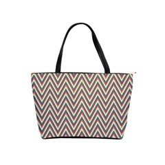 Chevron Retro Pattern Vintage Shoulder Handbags by Nexatart