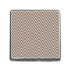 Chevron Retro Pattern Vintage Memory Card Reader (square)