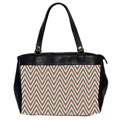 Chevron Retro Pattern Vintage Office Handbags (2 Sides)