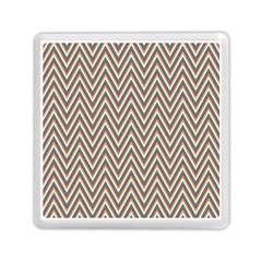 Chevron Retro Pattern Vintage Memory Card Reader (square)  by Nexatart