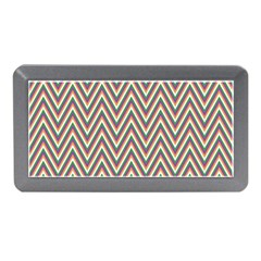Chevron Retro Pattern Vintage Memory Card Reader (mini)