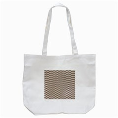 Chevron Retro Pattern Vintage Tote Bag (white)
