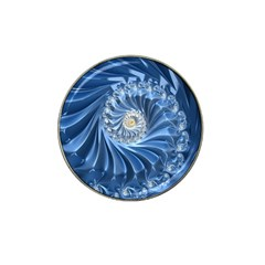 Blue Fractal Abstract Spiral Hat Clip Ball Marker (10 Pack)