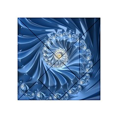 Blue Fractal Abstract Spiral Acrylic Tangram Puzzle (4  X 4 )