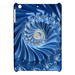 Blue Fractal Abstract Spiral Apple Ipad Mini Hardshell Case by Nexatart