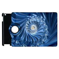 Blue Fractal Abstract Spiral Apple Ipad 3/4 Flip 360 Case