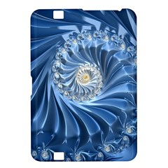 Blue Fractal Abstract Spiral Kindle Fire Hd 8 9  by Nexatart