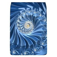 Blue Fractal Abstract Spiral Flap Covers (s)  by Nexatart