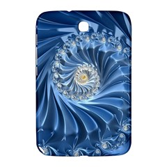Blue Fractal Abstract Spiral Samsung Galaxy Note 8 0 N5100 Hardshell Case  by Nexatart