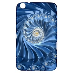 Blue Fractal Abstract Spiral Samsung Galaxy Tab 3 (8 ) T3100 Hardshell Case