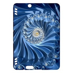 Blue Fractal Abstract Spiral Kindle Fire Hdx Hardshell Case by Nexatart