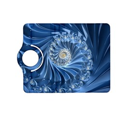 Blue Fractal Abstract Spiral Kindle Fire Hd (2013) Flip 360 Case by Nexatart