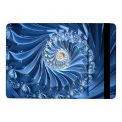 Blue Fractal Abstract Spiral Samsung Galaxy Tab Pro 10 1  Flip Case by Nexatart